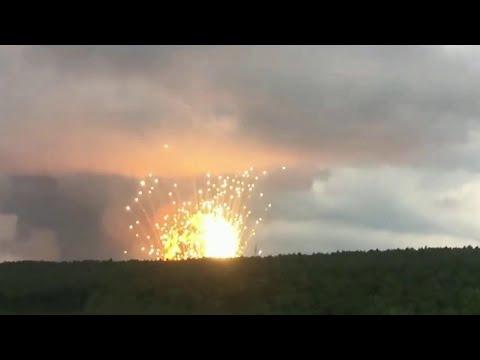 Тушить пожар на военном арсенале под Ачинском будут еще сутки.