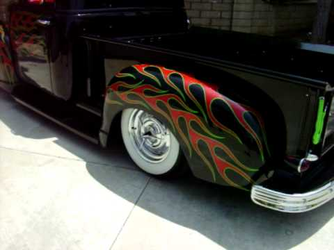 New Chevy Truck >> Sold,1949 Chevy truck, Chopped, Dead Sleds c.c., Bo Huff Customs, Custom Sled - YouTube