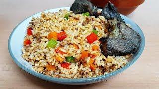 BEEF MINCE JOLLOF RICE | All Nigerian Recipes