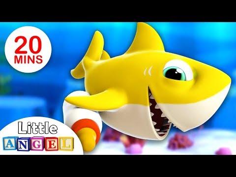 Baby Shark and Shark Family | Where are my Teeth? | Nursery Rhymes by Little Angel