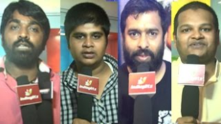 Uthama Villain Premiere Show : Vijay Sethupathi, M.Ghibran, Karthik Subbaraj, Andrea praising Kamal