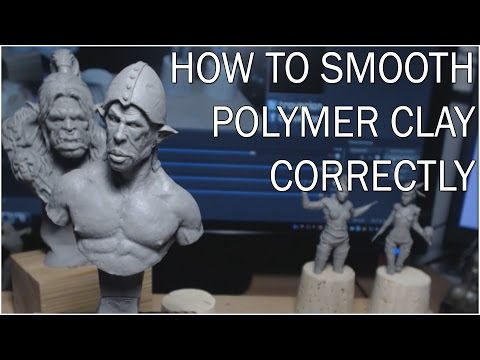 How to easily smooth Polymer-Clay sculpts