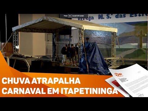 Chuva cancela carnaval em Itapetininga - TV SOROCABA/SBT