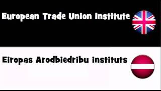 SAY IT IN 20 LANGUAGES = European Trade Union Institute