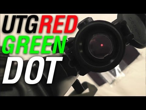UTG Golden Image 38mm Red Green Dot Sight Review