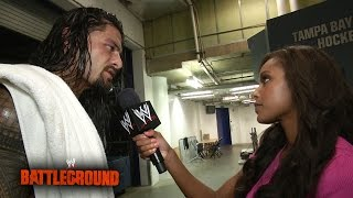 A defeated Roman Reigns looks ahead to Raw: WWE Battleground 2014