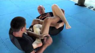 Yasubey Enomoto demonstrates heel hook submission techniques