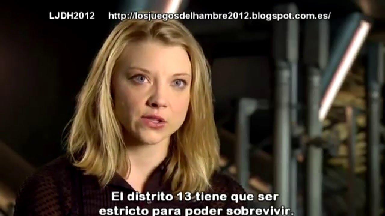 The Hunger Games Mockingjay Part 1 Natalie Dormer Entrevista 2014 Subtitulado Español