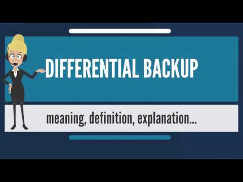 What is DIFFERENTIAL BACKUP? What does DIFFERENTIAL BACKUP mean? DIFFERENTIAL BACKUP meaning