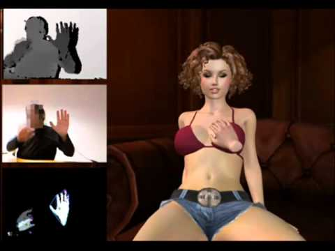 Kinect touching breast game