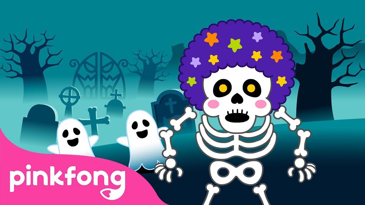 Anak anak, Nyanyi dan menari sama Band Tengkorak | Lagu Halloween | Pinkfong & Baby Shark
