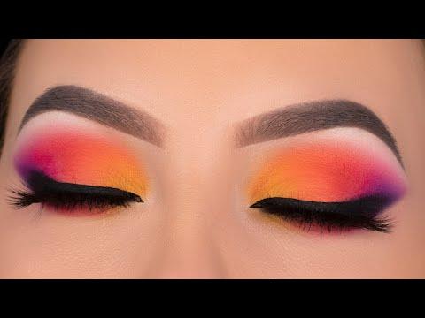 SUNSET Eye Makeup Tutorial | Jaclyn Hill x Morphe Volume 2 palette