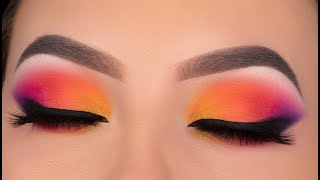 SUNSET Eye Makeup Tutorial | Jaclyn Hill x Morphe Volume 2 palette