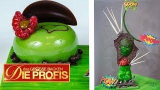25 Kilo Schokoladenkuchen: Marvel-Mirror Glaze Cake | Das große Backen - Die Profis  | SAT.1
