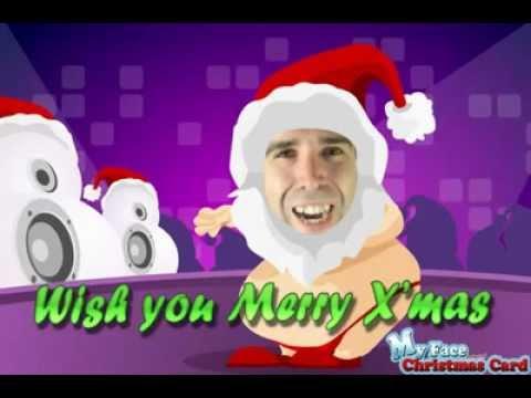My Face Christmas Card Animated Disco Disco Dance