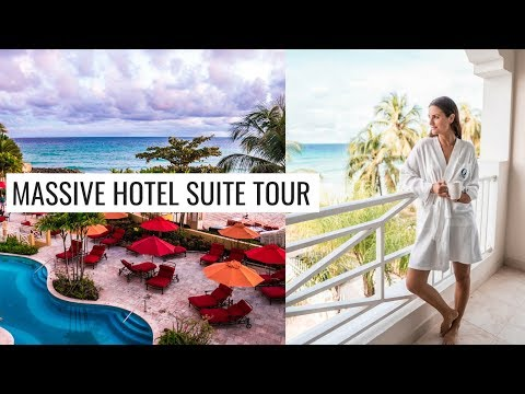 BARBADOS TRAVEL VLOG: OCEAN TWO HOTEL ROOM TOUR (Massive suite!!) | Molly J Curley