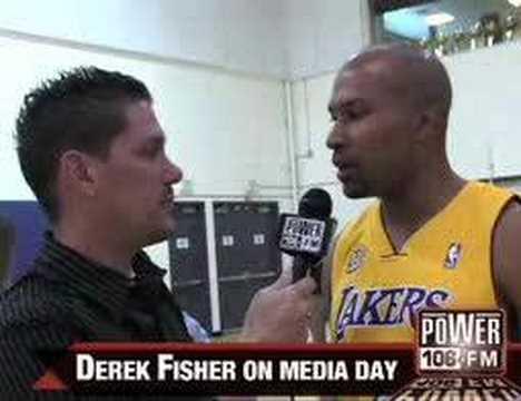 Derek Fisher - Lakers Media Day