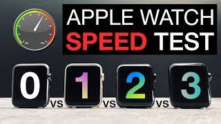 Every Apple Watch ⌚️Speed Test Comparison 2017 | Series 3 vs Series 2 vs Series 1 vs Series 0