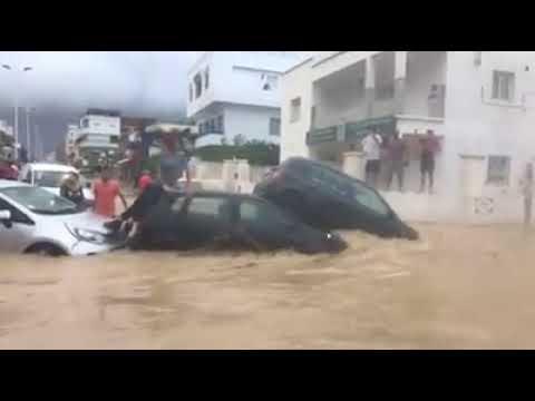 Vidéo choquante à Nabeul: Les habitants font face aux inondations