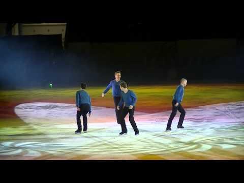 Kurt Browning, Jeffrey Buttle, Patrick Chan, Elvis Stojko perform together