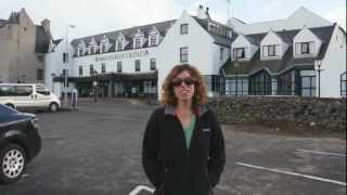 We celebrated our anniversary at Ballygally Castle in County Antrim...