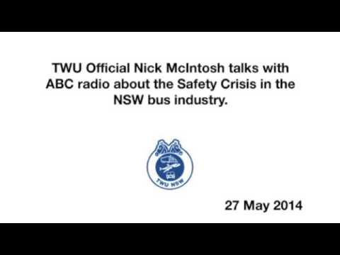 Nick McIntosh talks to ABC radio about the crisis in the NSW bus industry