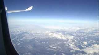 Полет над Атлантикой | Вид из иллюминатора