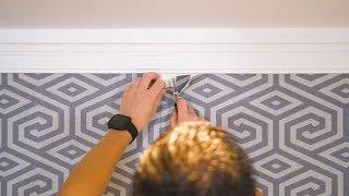 Double découpe du revêtement mural contract en vinyle
