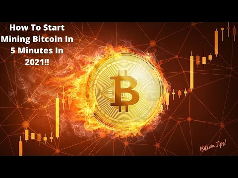 How To Start Mining Bitcoin In 5 Minutes!?! 2021!!