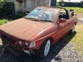 Ford Escort Cabriolet MK5 EFI Restoration Part 1 Classic car