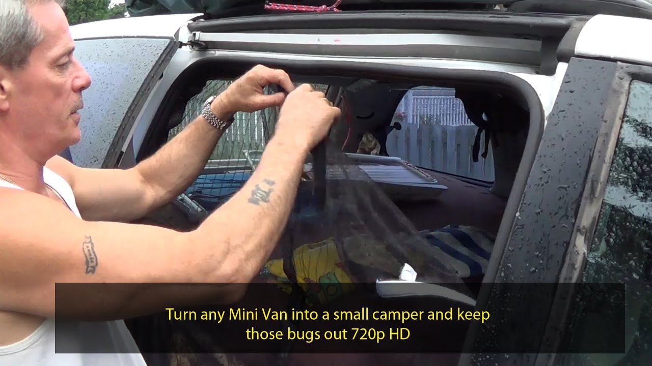 Small Car Camper Turn Your Van Into A Small Camper And Keep The Bugs Out 720p Hd