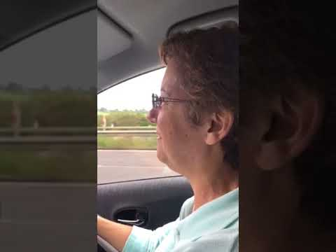 Denise enjoying motorway driving for the first time!