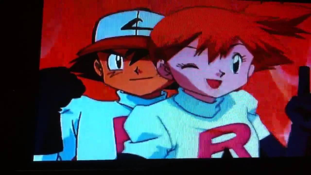 Ash,Misty,Brock and Duplica imitate Team Rocket's Motto ...