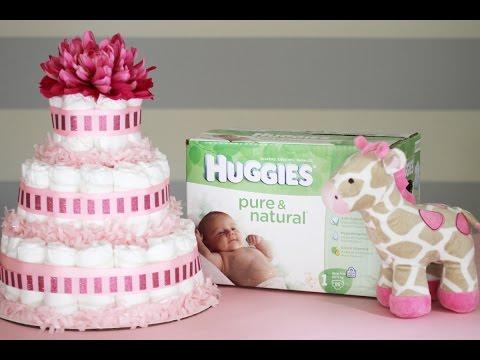 КАК СДЕЛАТЬ ТОРТ ИЗ ПАМПЕРСОВ-ВИДЕО УРОК How to Make a Diaper Cake   от katvickas98