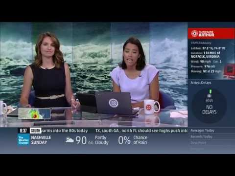 Hurricane Arthur Coverage (7/4/14 6am-9am) - The Weather Channel