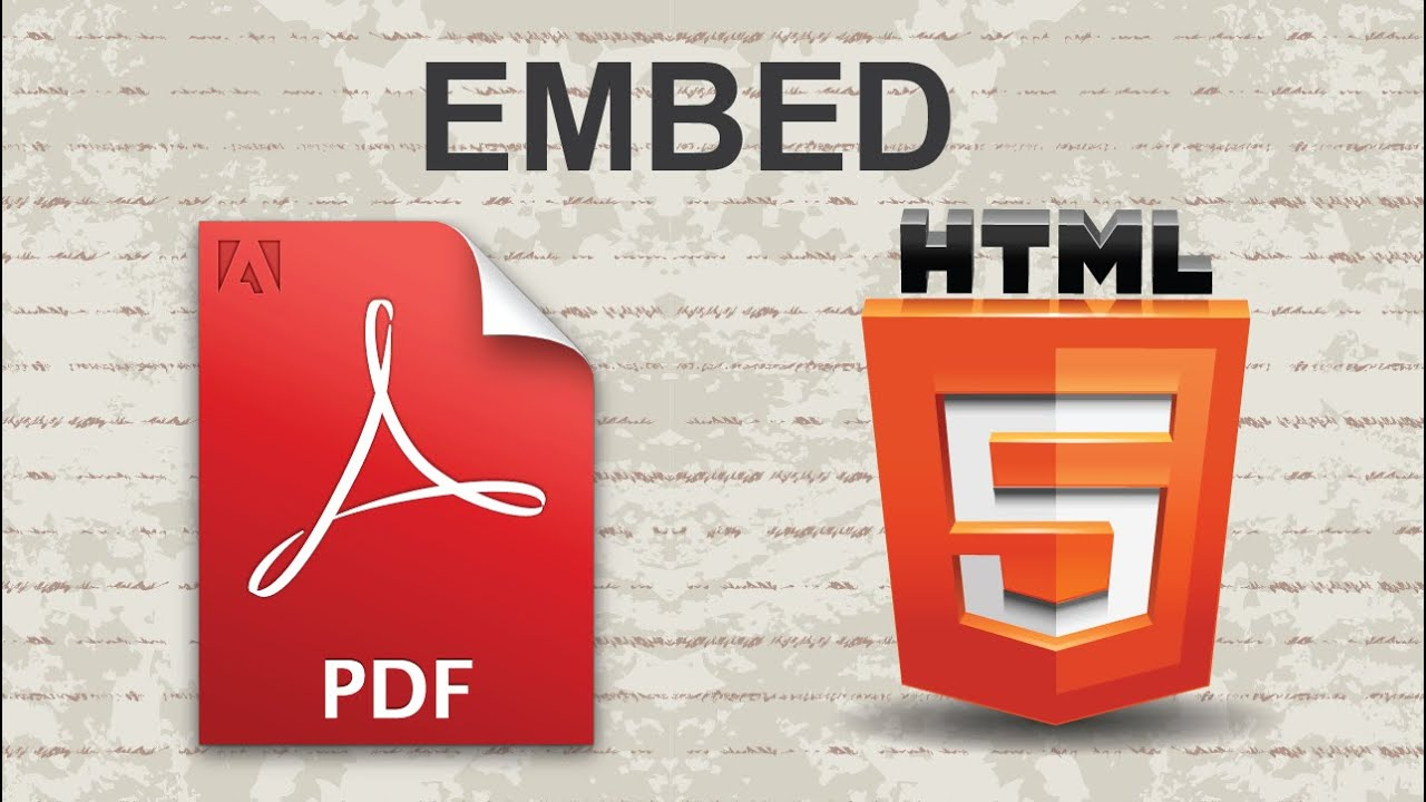 How to Embed PDF in HTML - YouTube