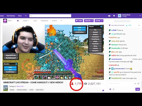 I caught a Twitch streamer HACKING on my Minecraft server LIVE..