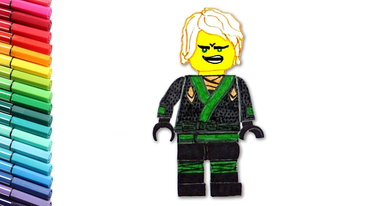 Lego Ninjago Lloyd Color Pages For Children Learn To Draw Your Favorits Lego Heros Youtube