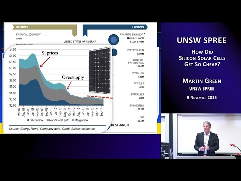 UNSW SPREE 201611-09 Martin Green - How Did Silicon Solar Cells Get So Cheap?