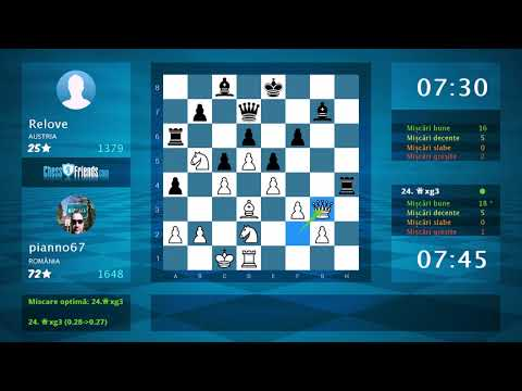 Chess Game Analysis: pianno67 - Relove : 1-0 (By ChessFriends.com)