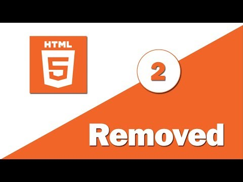 2 - ( HTML 5 Tutorial ) Removed Element