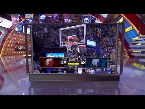[Playoffs Ep. 1] Inside The NBA (on TNT) Halftime - Blazers vs. Grizzles Game 1 Highlights - 4-19-15
