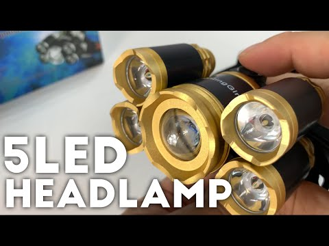 THIS 5 LED HEADLAMP IS CRAZY!!