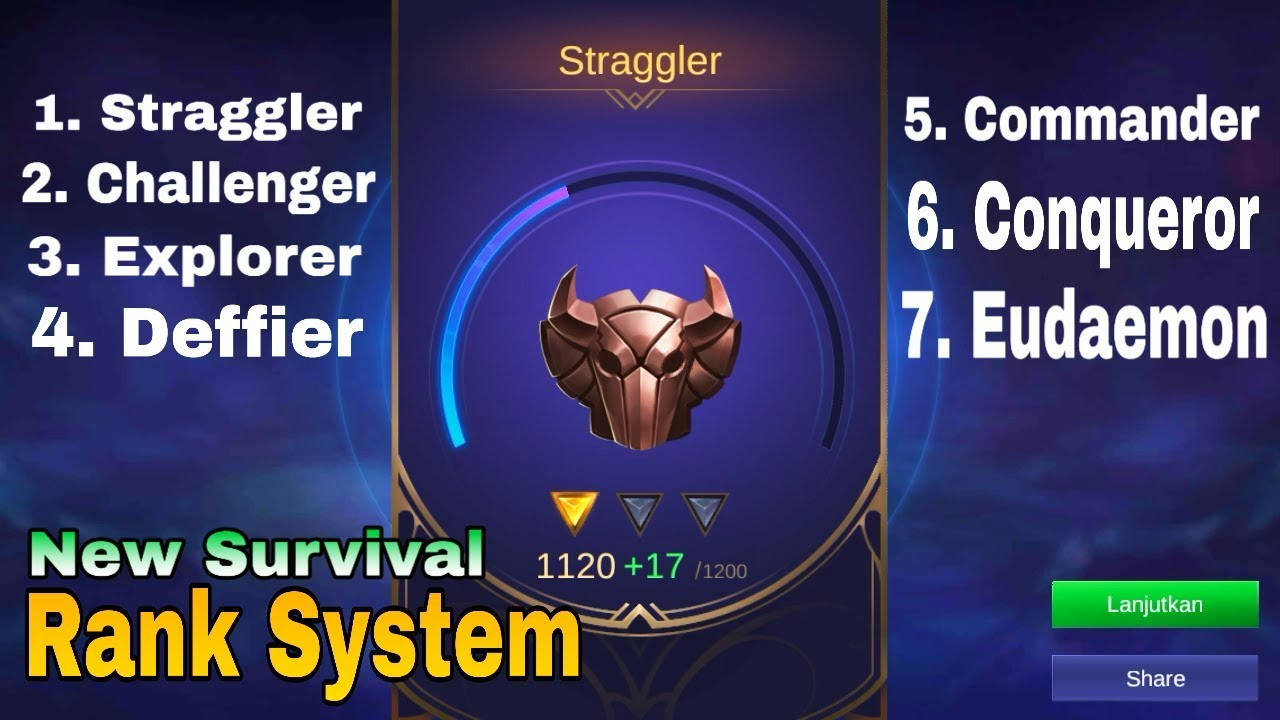 bakal ada top global rank mode survival - sistem baru mode survival mobile legend bang bang