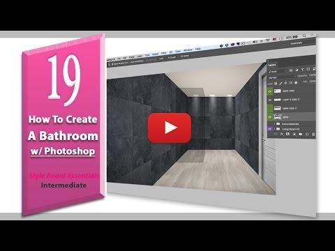 19. How to create a bathroom using Photoshop (design board essentials)