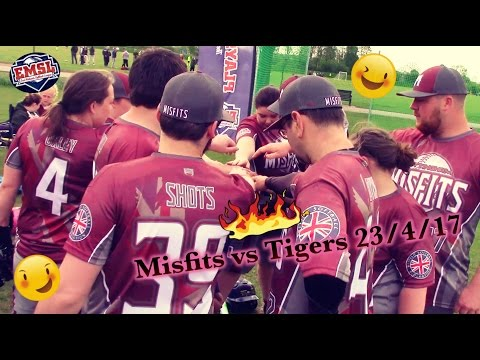 Co-ed Slowpitch Softball/Misfits vs Tigers 23/4/17