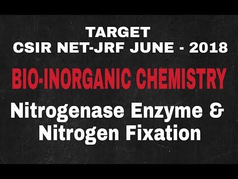 Lecture - 8 ll Bio-Inorganic Chemistry ll Nitrogenase Enzyme & Nitrogen Fixation