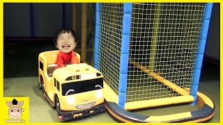 Fun Play Indoor Playground for Kids and Family Tayo Bus тайо Rainbow Colors | MariAndKids Toys