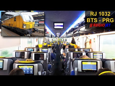 TRAIN EXPERIENCE | Bratislava - Prague | BUSINESS CLASS | REGIOJET InterCity Train