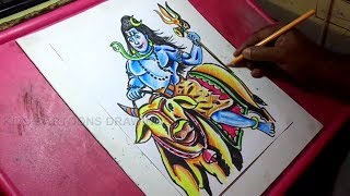 How to Draw Lord Shiva Drawing for Kids